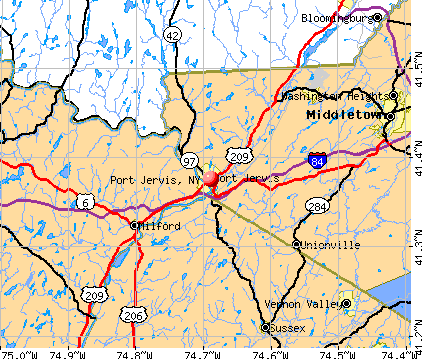 Port Jervis, NY map