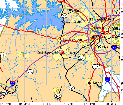 Red Bank, SC map