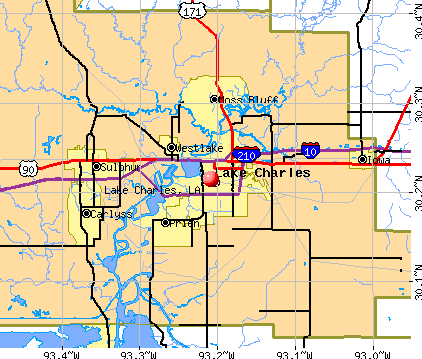 Lake Charles, LA map