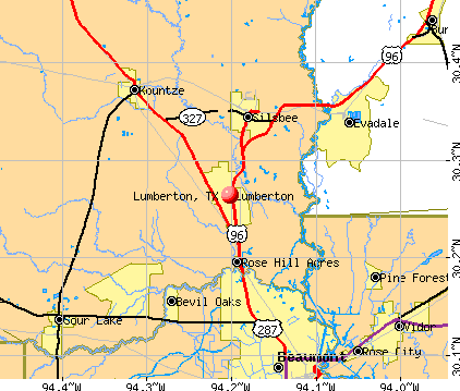 Lumberton, TX map