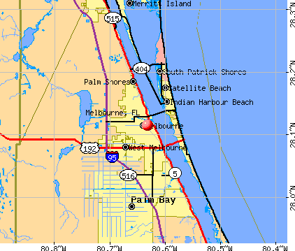 Melbourne, FL map