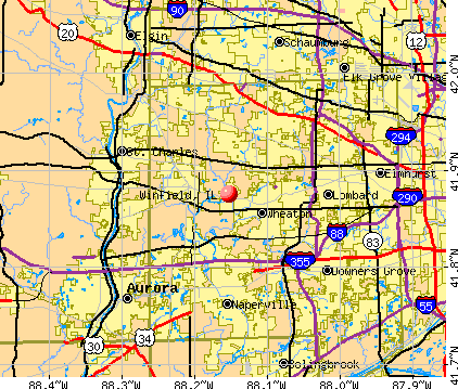 Winfield, IL map