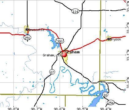 Graham, TX map