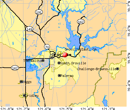 Oroville East, CA map