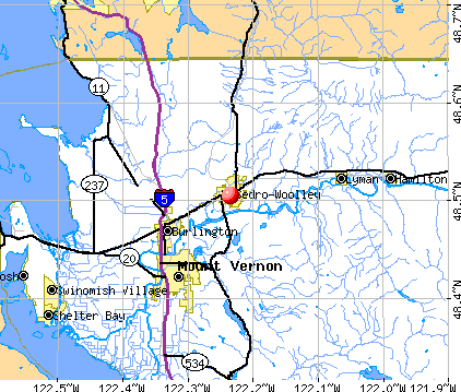 Sedro-Woolley, WA map
