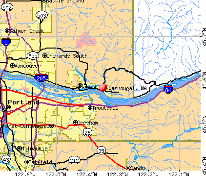 Washougal, WA map