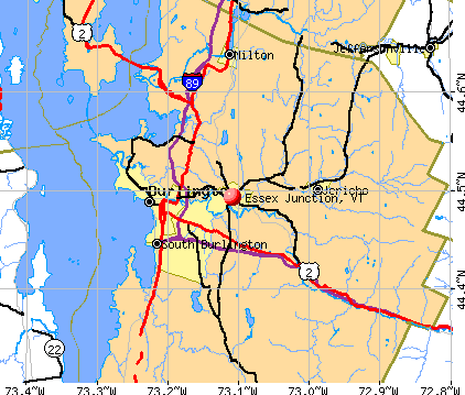 Essex Junction, VT map