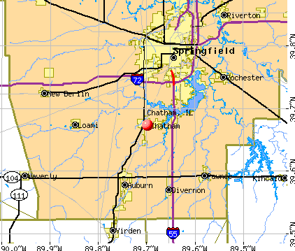 Chatham, IL map