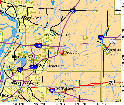 Troy, IL map