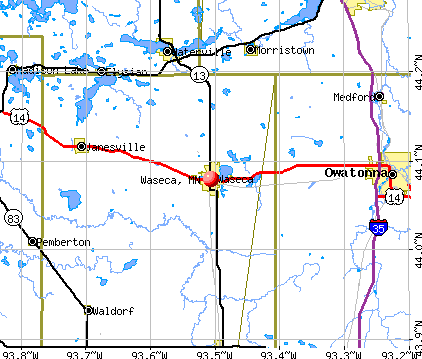 Waseca, MN map
