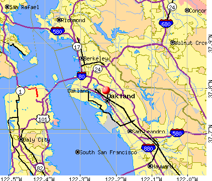 Oakland, CA map