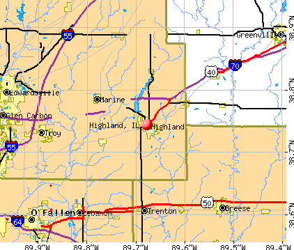 Highland, IL map