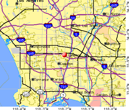 Lynwood, CA map