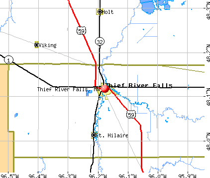 Thief River Falls, MN map