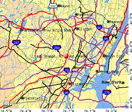 East Orange, NJ map
