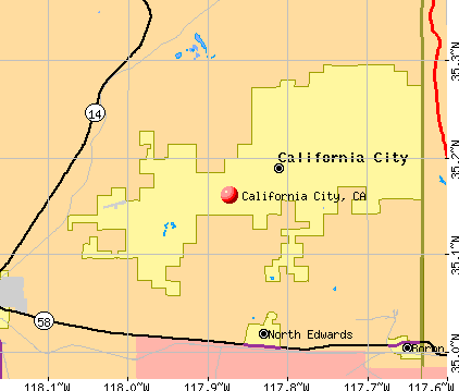 California City, CA map