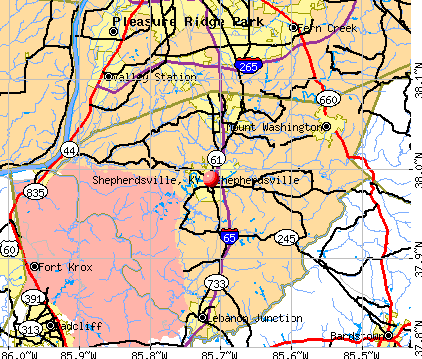 Shepherdsville, KY map