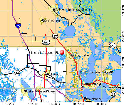 The Villages, FL map