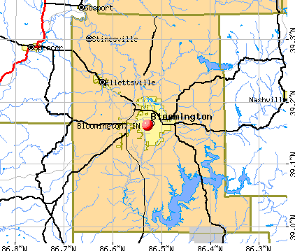 Bloomington, IN map