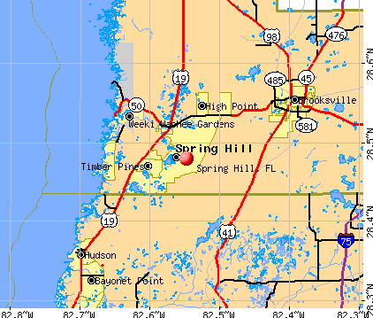 Spring Hill, FL map