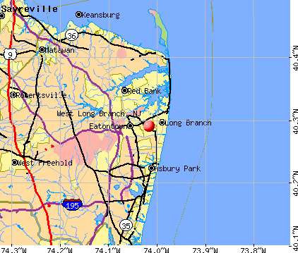 West Long Branch, NJ map