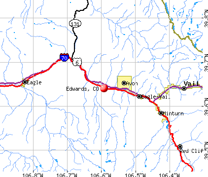 Edwards, CO map