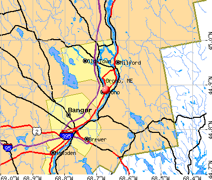 Orono, ME map