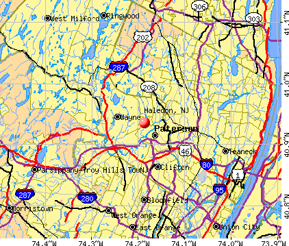 Haledon, NJ map