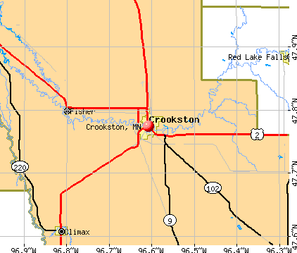 Crookston, MN map