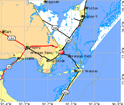 Aransas Pass, TX map