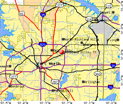 Richland Hills, TX map