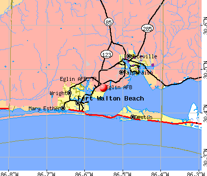 Eglin AFB, FL map