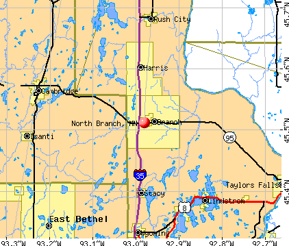 North Branch, MN map