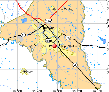 College Station, TX map