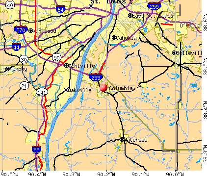 Columbia, IL map