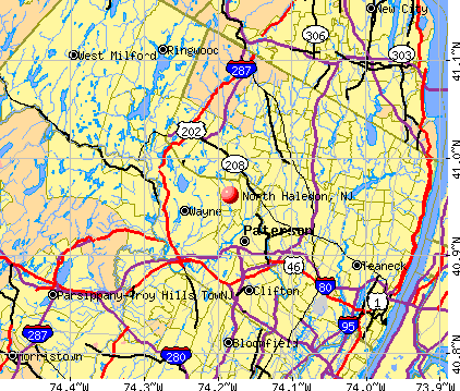 North Haledon, NJ map