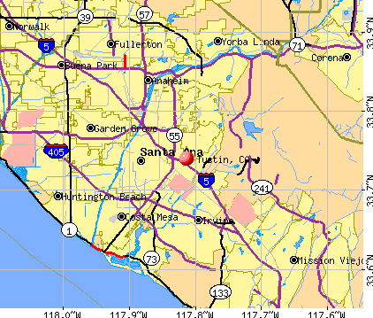 Tustin, CA map