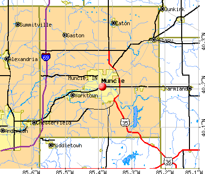 Muncie, IN map