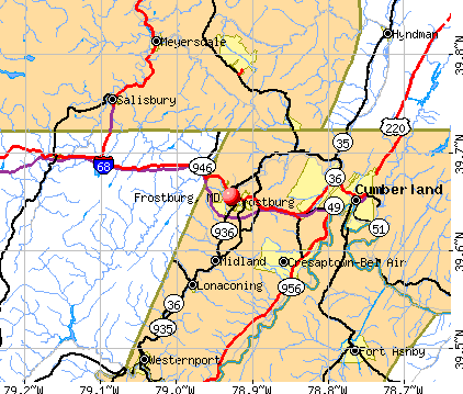 Frostburg, MD map