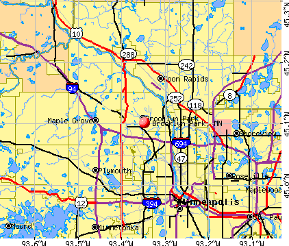 Brooklyn Park, MN map