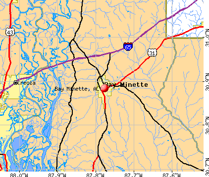 Bay Minette, AL map