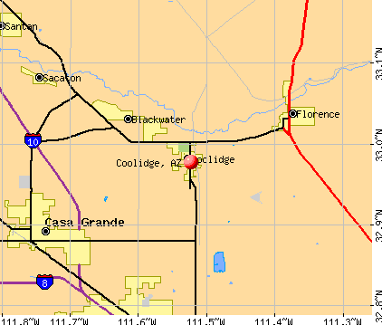 Coolidge, AZ map
