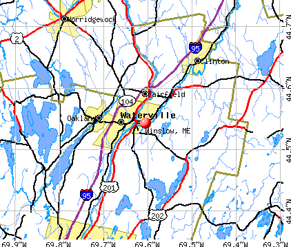 Winslow, ME map