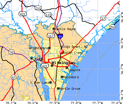 Kings Grant, NC map