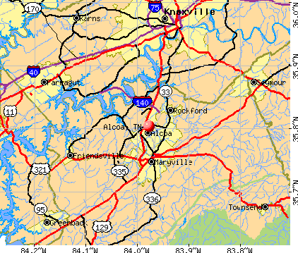Alcoa, TN map