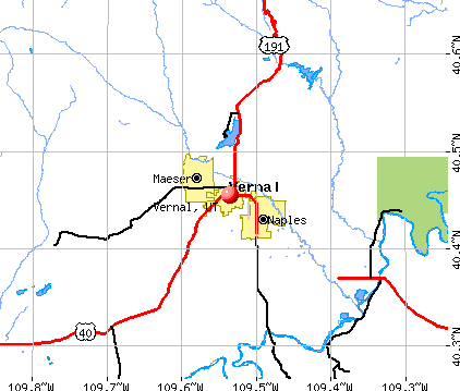 Vernal, UT map