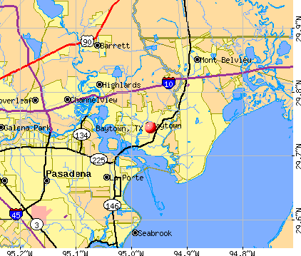 Baytown, TX map