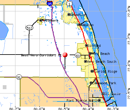 West Vero Corridor, FL map
