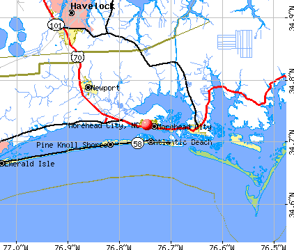 Morehead City, NC map