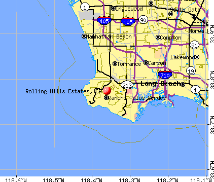 Rolling Hills Estates, CA map